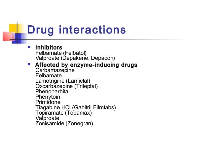 Carbamazepine Medication Interactions