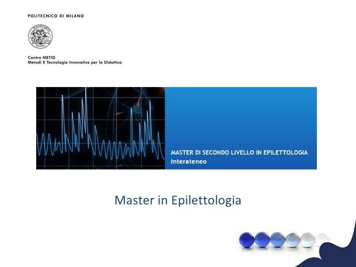 Master in Epilettologia
