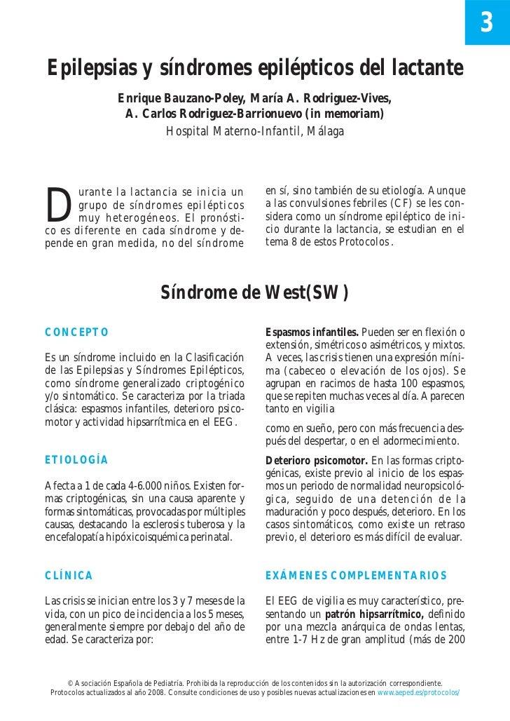 3Epilepsias y síndromes epilépticos del lactante                     Enrique Bauzano-Poley, María A. Rodriguez-Vives,     ...