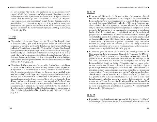 2004 Situación del Derecho a la Libertad de Expresión e Información en Venezuela
