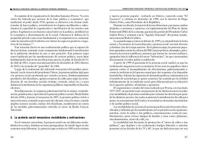 49 3. Respuestas gubernamentales a la protesta social Cabe recordar que el proceso de movilización y protesta social se ha...