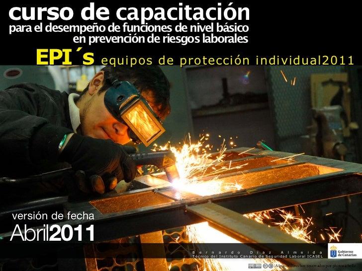 curso de capacitaciónpara el desempeño de funciones de nivel básico            en prevención de riesgos laborales     EPI´...