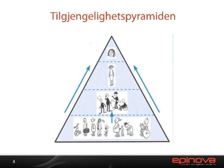 Tilgjengelighetspyramiden<br />4<br />