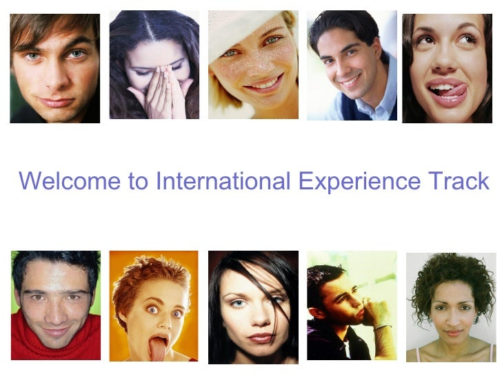 Welcome to International Experience Track