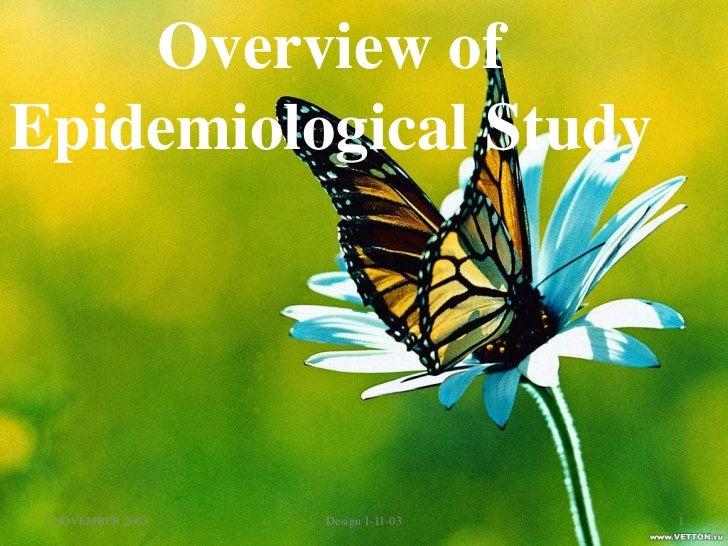 Epidemiological study designs - SlideShare