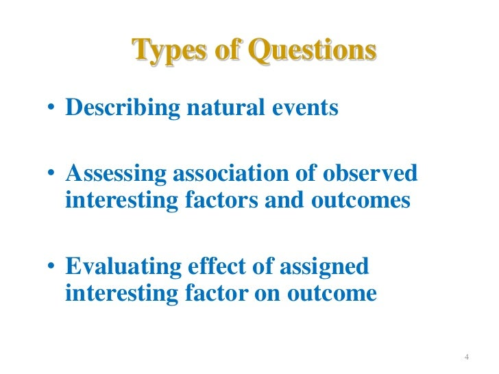 Overview of Epidemiological Study Designs | Cohort Study ...