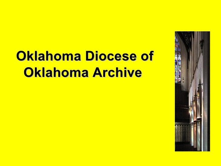 Oklahoma Diocese of Oklahoma Archive