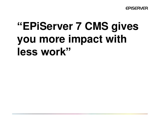 EPiServer Update and Roadmap 2012