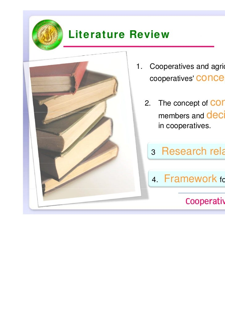 cooperatives literature review Role of cooperative bank in agricultural credit: cooperatives have ideological base review of literature / committee report.