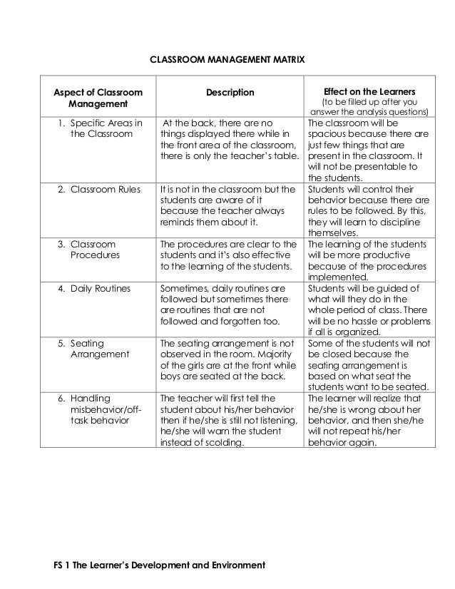 classroom observation analysis How to select the right classroom observation tool : 3 skills that teachers bring into the classroom setting, and feed-back and support around these behaviors is much.