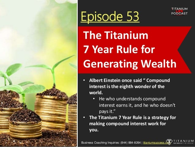 """Episode 53 • Albert Einstein once said """" Compound interest is the eighth wonder of the world. • He who understands compoun..."""