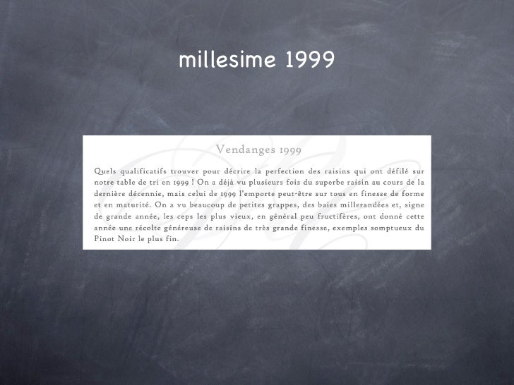 millesime 1999