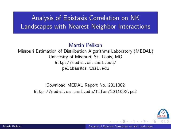 Analysis of Epistasis Correlation on NK             Landscapes with Nearest Neighbor Interactions                         ...