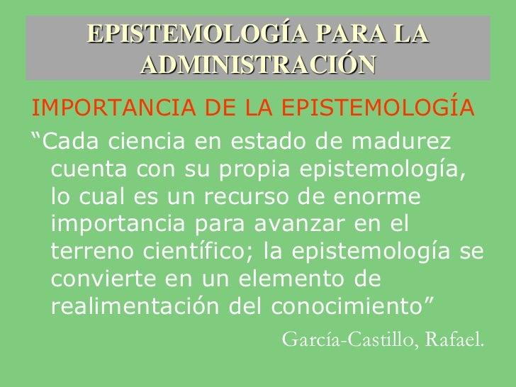 Epistemolog a para la administracion 1 for Importancia de la oficina