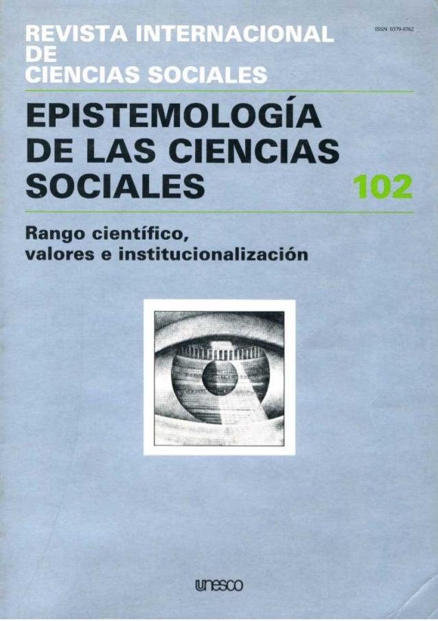 Revista trimestral publicada  por la Unesco  Vol. X X X V I (1984), n.° 4  Redactor jefe p.L: Ali Kazancigil  Maquetista: ...