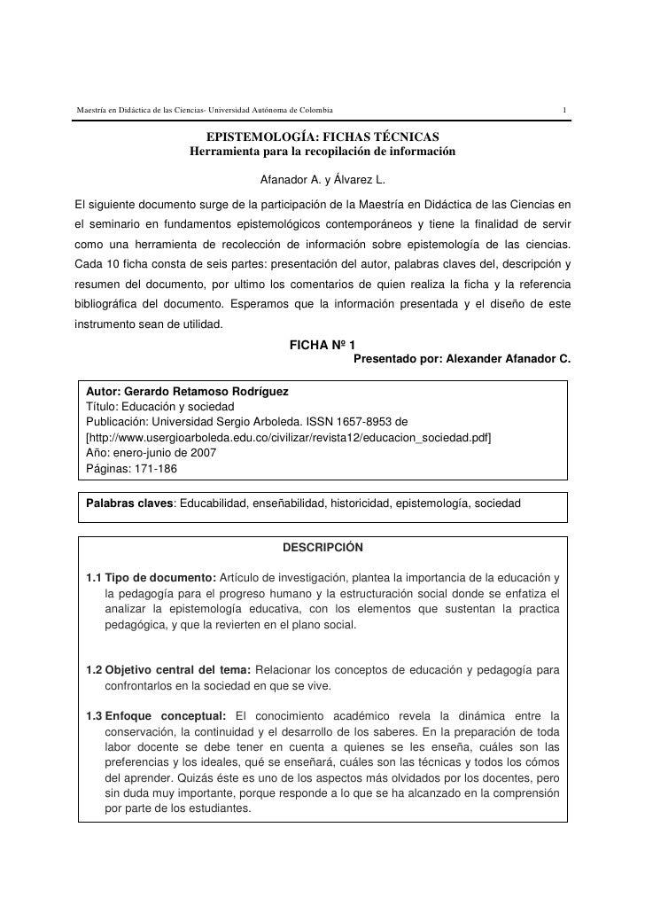 Maestría en Didáctica de las Ciencias- Universidad Autónoma de Colombia                                      1            ...