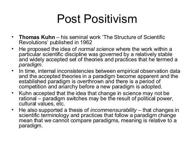 Epistemology Of Positivism And Post Positivism