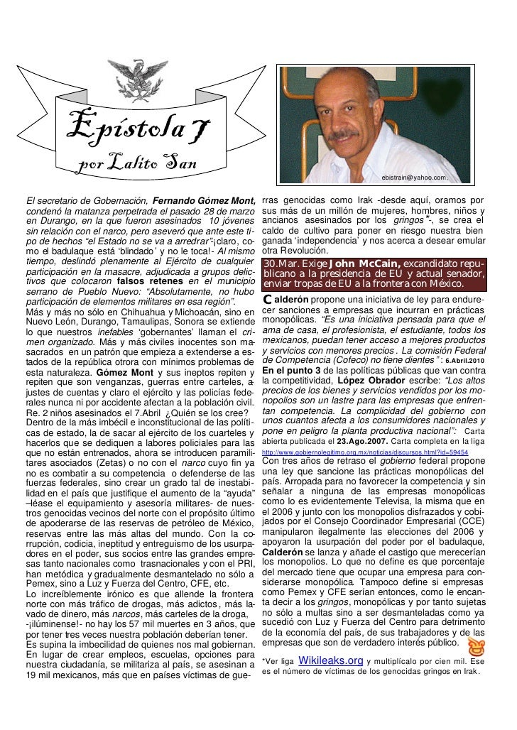 Epístola 7              por Lalito San                                                                        ebistrain@ya...