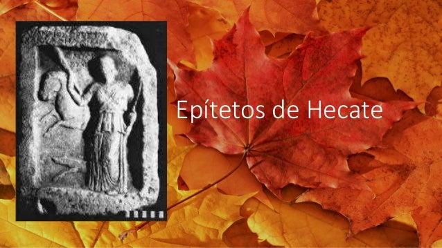 Epítetos de Hecate