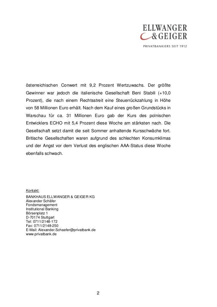 österreichischen Conwert mit 9,2 Prozent Wertzuwachs. Der größteGewinner war jedoch die italienische Gesellschaft Beni Sta...
