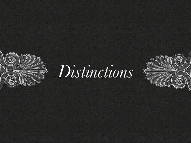 Distinctions