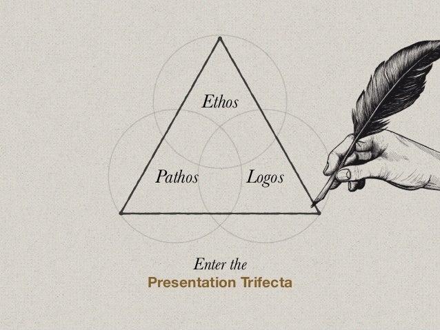 Enter the Presentation Trifecta Ethos Pathos Logos