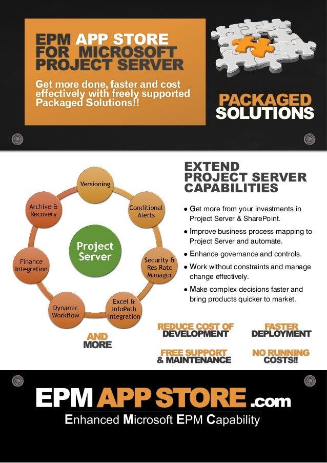 microsoft project server epm app store solution guide rh slideshare net EPM Server EPM Project