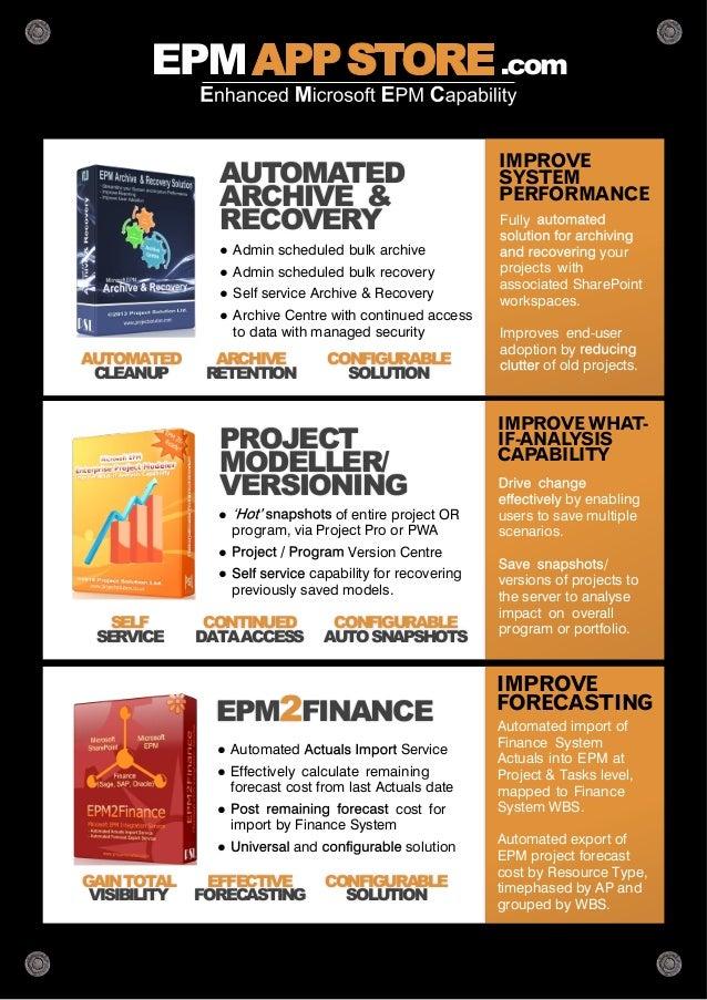 microsoft project server epm app store solution guide rh slideshare net Project Server EPM Live EPM Server