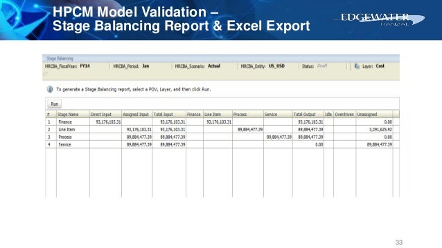 HPCM Model Validation – Stage Balancing Report & Excel Export 33