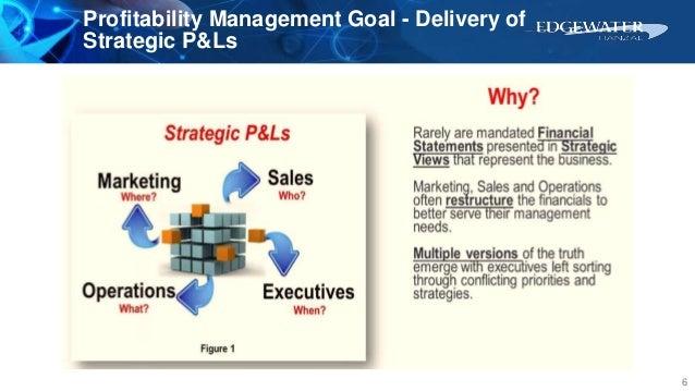 Profitability Management Goal - Delivery of Strategic P&Ls 6