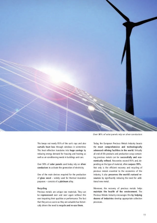 Over 90% of solar panels rely on silver conductorsThis keeps out nearly 95% of the sun's rays and also        Today, the E...