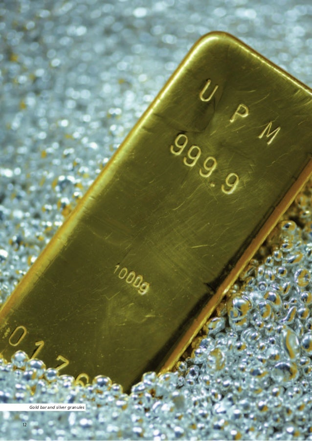 Gold bar and silver granules12