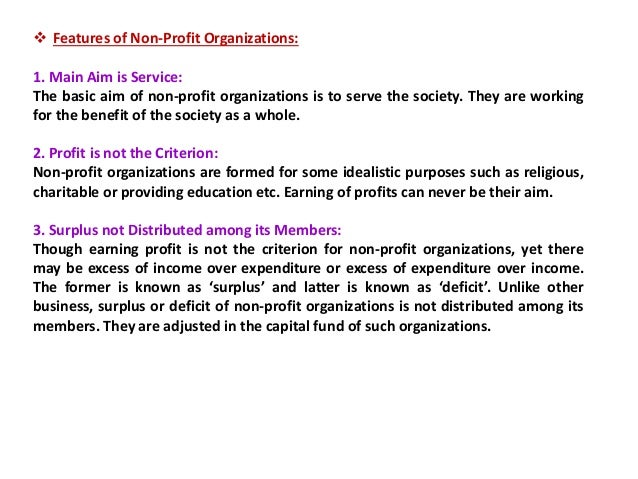 performance evaluation parameters for non profit organisations