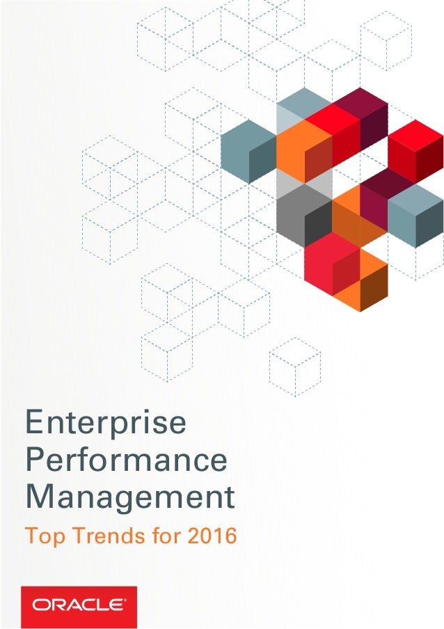 Enterprise Performance Management Top Trends for 2016