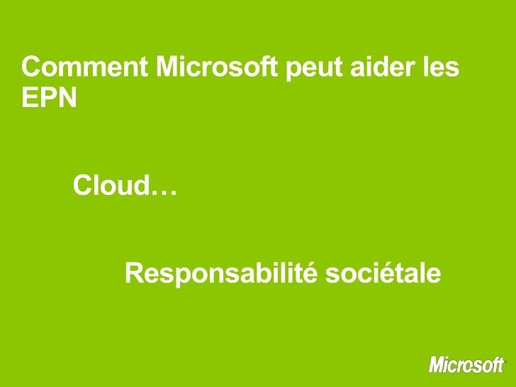 Présentation Microsoft EPN 2011 Slide 2