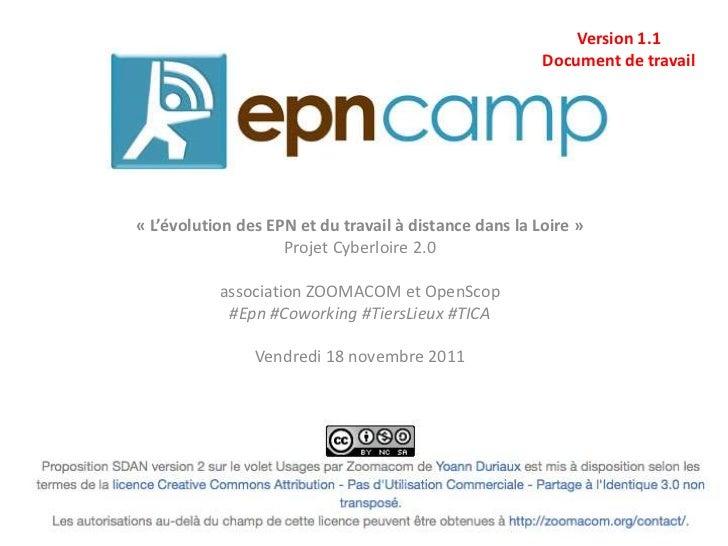 Version 1.1                                                        Document de travail« L'évolution des EPN et du travail ...