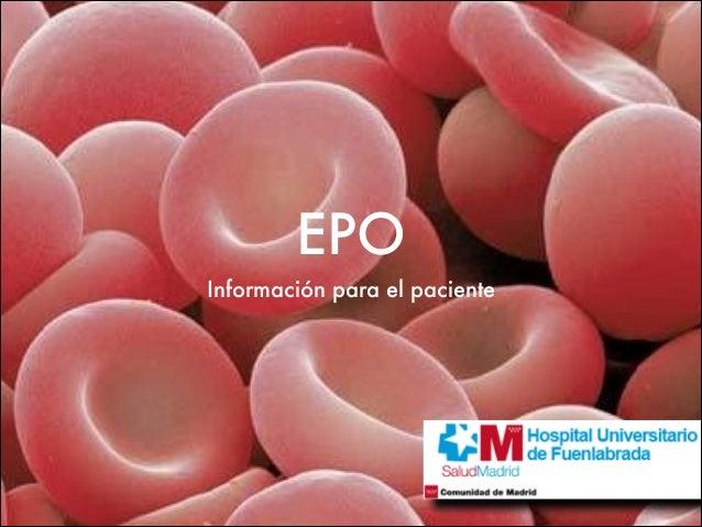 EPO Información para el paciente