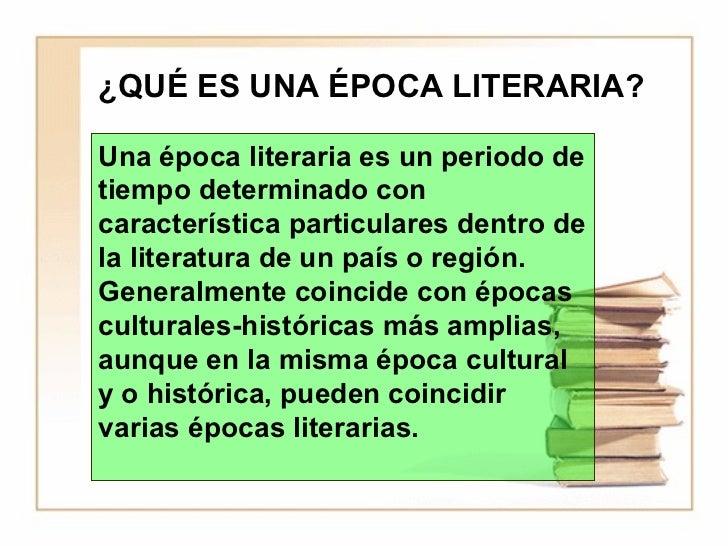 Epocas literarias Slide 2