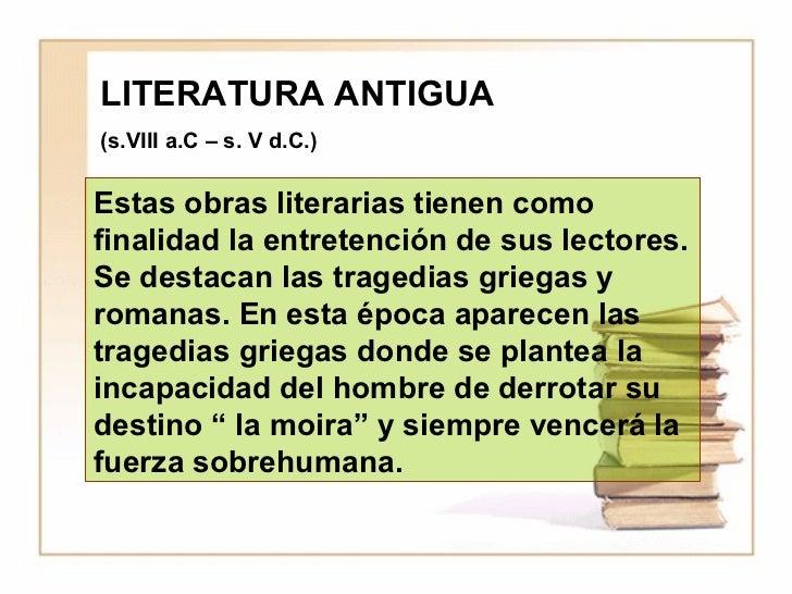 Epocas literarias Slide 3