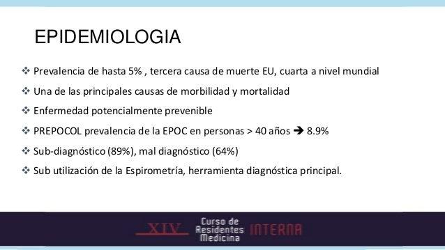 EPIDEMIOLOGIA Prevalencia de hasta 5% , tercera causa de muerte EU, cuarta a nivel mundial Una de las principales causas...