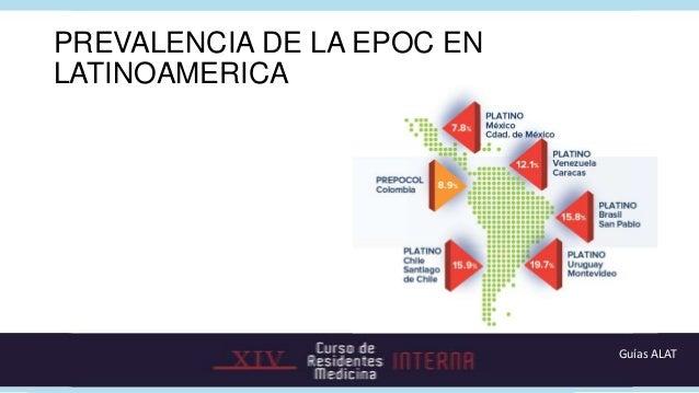 PREVALENCIA DE LA EPOC ENLATINOAMERICA                            Guías ALAT