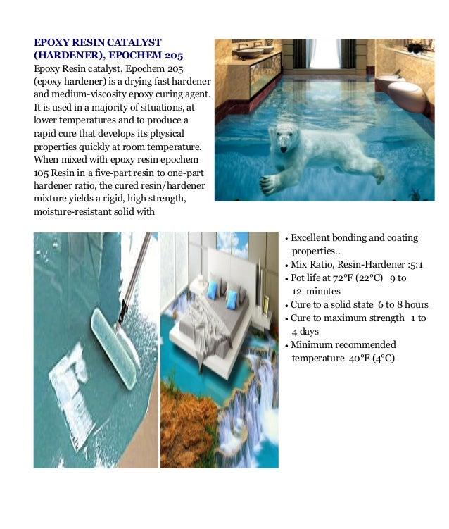 Epoxy Flooring Kerala: Epochem 105 Resin And 205 Hardener 3D Epoxy Flooring