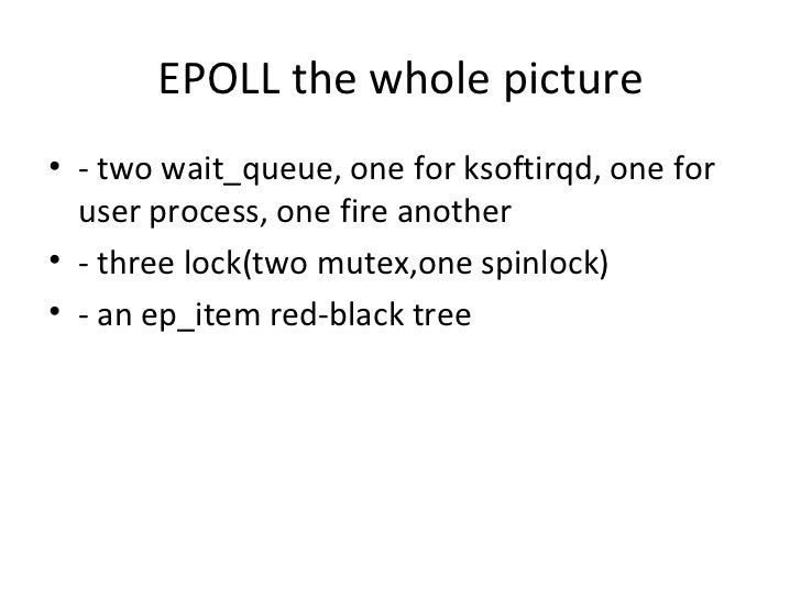 Epoll from the kernel side for Ep ptable queue proc
