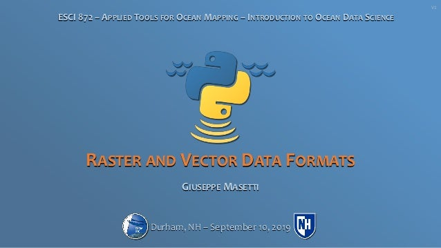 ePOM - Intro to Ocean Data Science - Raster and Vector Data