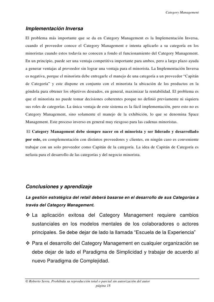 Category ManagementImplementación InversaEl problema más importante que se da en Category Management es la Implementación ...