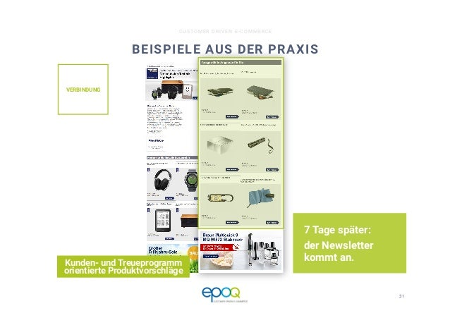 31  CUSTOMER DRIVEN E-COMMERCE BEISPIELE AUS DER PRAXIS 7 Tage später: der Newsletter kommt an. Kunden- und Treueprogramm ...