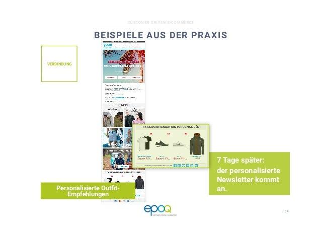 34  CUSTOMER DRIVEN E-COMMERCE BEISPIELE AUS DER PRAXIS 7 Tage später: der personalisierte Newsletter kommt an. Personalis...