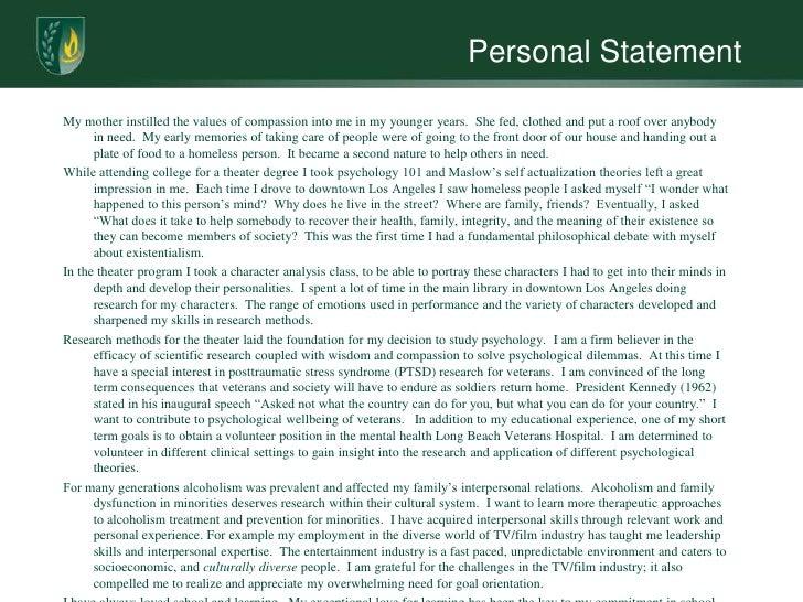 Write personal statement service