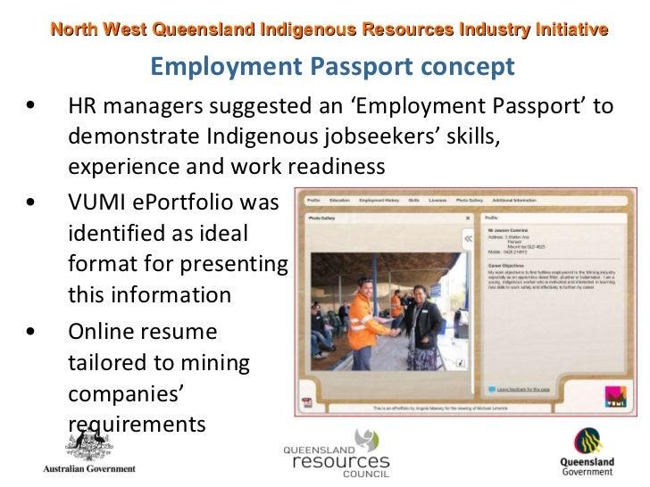 employment passport project  using vumi eportfolios for