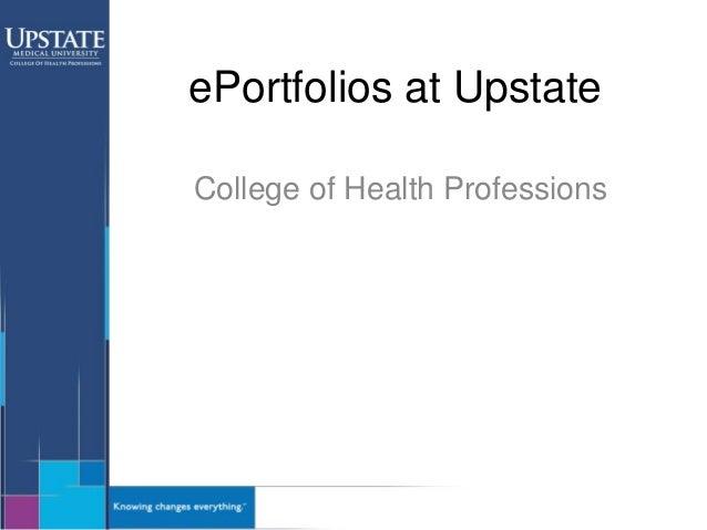ePortfolios at Upstate College of Health Professions